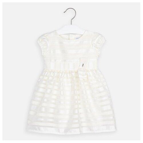Платье Mayoral размер 110, полоска/кремовый