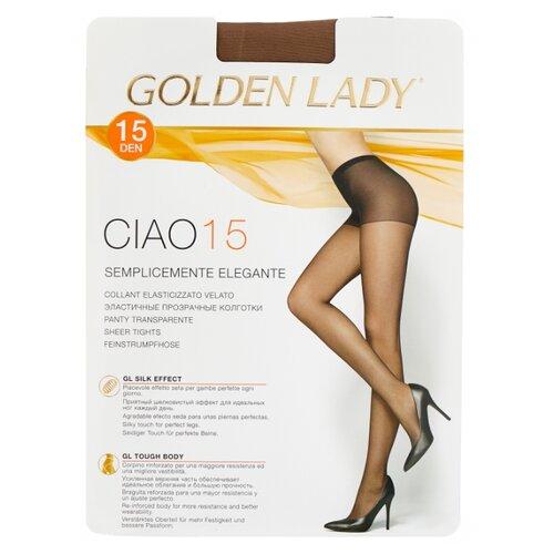 Колготки Golden Lady Ciao 15 den, размер 4-L, daino (бежевый) колготки golden lady leda 20 den размер 4 l daino бежевый