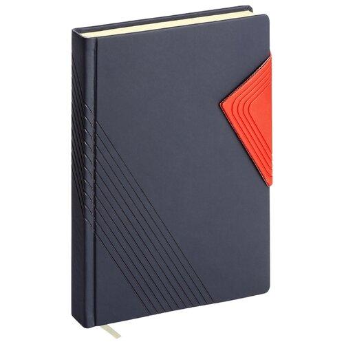 Купить Ежедневник ErichKrause Soft Touch недатированный, искусственная кожа, А5, 168 листов, синий, Ежедневники, записные книжки