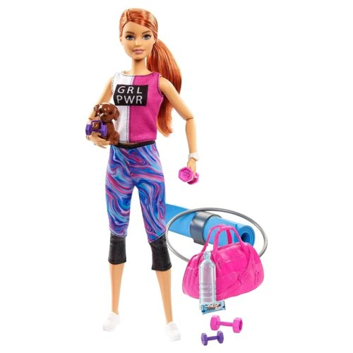 Купить Кукла Barbie Релакс Фитнес GJG57, Куклы и пупсы