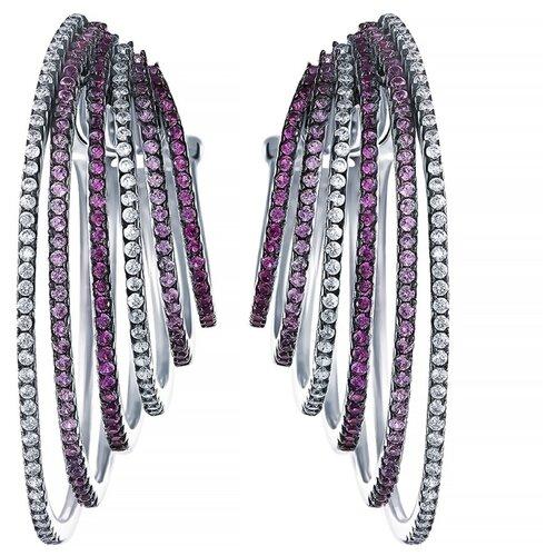 JV Серебряные серьги с кубическим цирконием DM2682-1E-SR-001-WG
