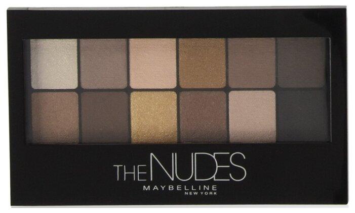 """Maybelline Палетка теней для век """"Nudes"""", натуральные оттенки"""