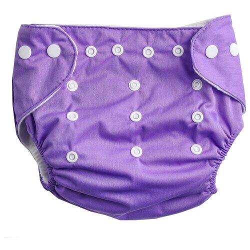 Фото - Крошка Я многоразовый подгузник (3-15 кг) 1 шт. фиолетовый глориес многоразовый подгузник классик сафари 3 18кг 2 вкладыша