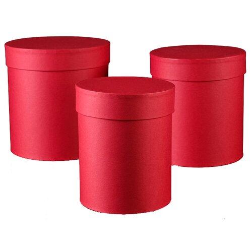 набор подарочных коробок ип выгодский денис владимирович микс 3 шт разноцветный Набор подарочных коробок ИП Выгодский Денис Владимирович 3 в 1, 3 шт. темно-красный