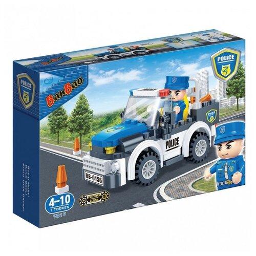Конструктор BanBao Полиция 7017 Полицейская машина конструктор пласт полиция машина с фигуркой 88дет в русс кор в кор 90шт