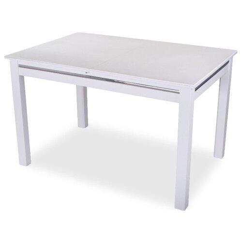 Стол кухонный Домотека Самба КМ 08, раскладной, ДхШ: 110 х 70 см, длина в разложенном виде: 147 см, 04/БЛ белый 08 БЛ белый стол домотека самба 1 км 04 бл 08 бл