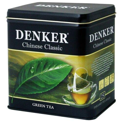 Чай зеленый Denker Chinese classic в пирамидках, 25 шт. denker mellow citrus черный чай в пирамидках 25 шт