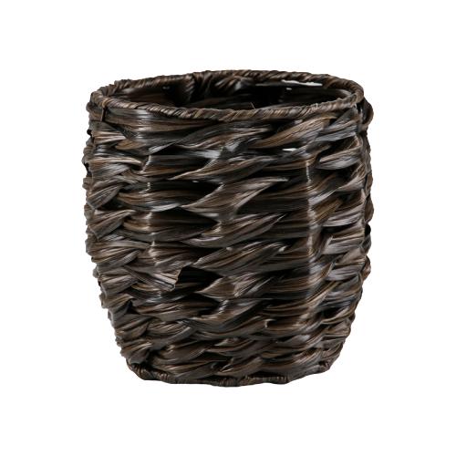 Кашпо Доляна Косичка 15,5х15,5х14 см коричневый серп доляна 18 см