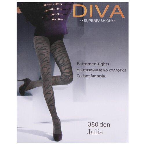Колготки DIVA SUPERFASHION Julia 8841 380 den, размер free size, черный колготки diva superfashion secret 128 380 den размер free size черный черный