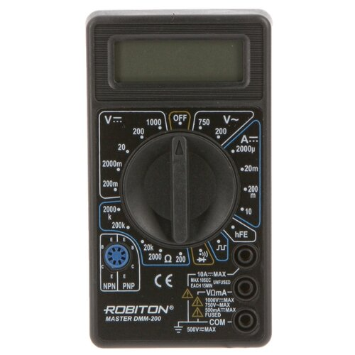 Мультиметр цифровой ROBITON DMM-200 мультиметр цифровой robiton dmm 200