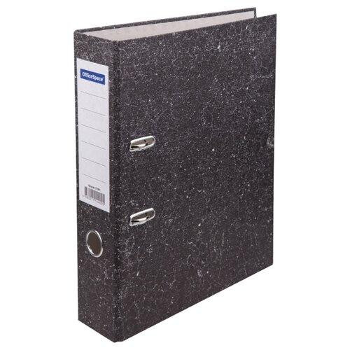 Купить OfficeSpace Папка-регистратор A4, мрамор, 70 мм, бюджет черный, Файлы и папки