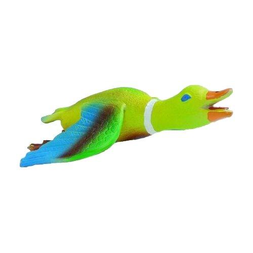 Игрушка для собак Beeztees Утка с крыльями (620800) зеленый/голубой игрушка beeztees крокодильчик для кошек 13 5см голубой