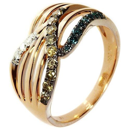 Фото - JV Кольцо с бриллиантами из красного золота R27278-DL-DN-PINK, размер 17.5 dl 5046 pink