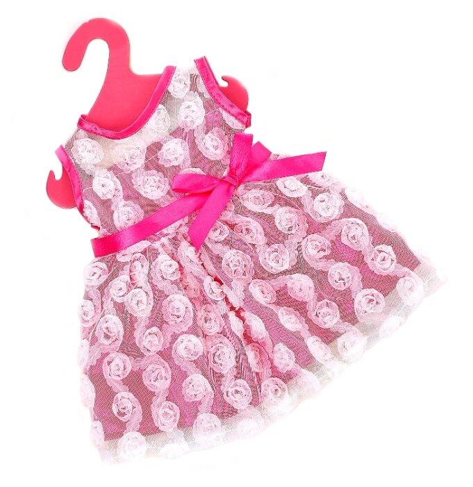Купить Одежда для пупса платье летнее с кружевное 1844131 по низкой цене с доставкой из Яндекс.Маркета (бывший Беру)