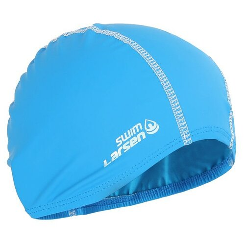 Шапочка для плавания Larsen 3059 голубой/белый шапочка larsen ls78 pink neon