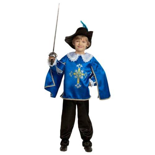 Купить Костюм Батик Мушкетер (7003-1/7003-2), синий/черный/белый, размер 158, Карнавальные костюмы