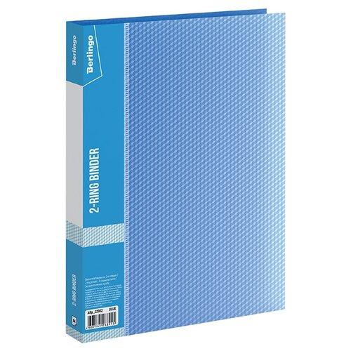 Купить Berlingo Папка на 2-х кольцах Diamond А4, пластик синий, Файлы и папки