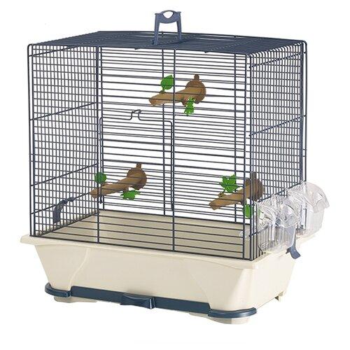 Клетка SAVIC Primo 30 42х25х41.5см синий/ бежевый savic клетка savic primo 50 для птиц синяя 65х38х56 5 см