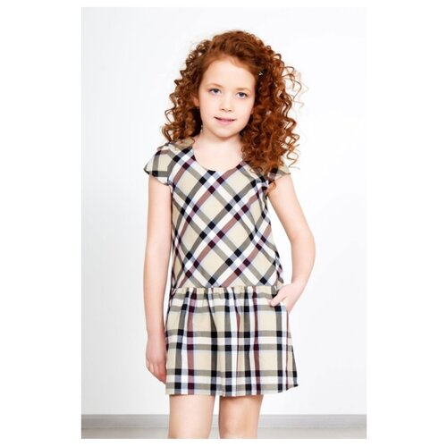 Фото - Платье Lika Dress размер 28, бежевый/клетка платье lika dress размер 28 бежевый