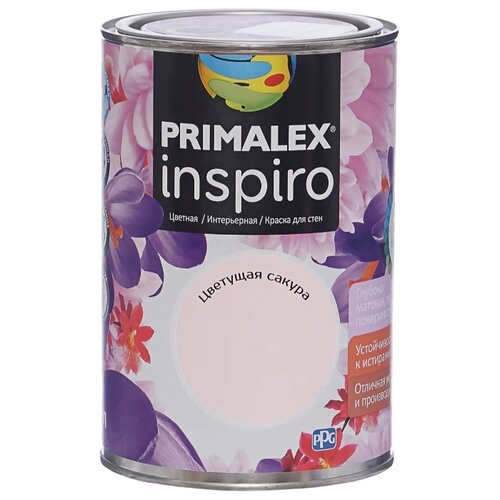 Краска PRIMALEX Inspiro моющаяся матовая Цветущая сакура 1 л