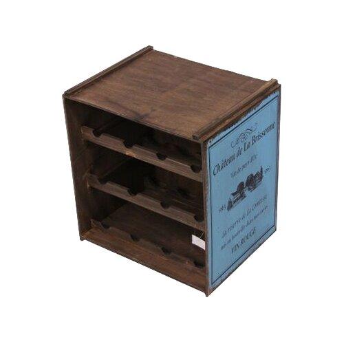 Стеллаж винный Koopman International Андюз, дерево/голубой по цене 7 020