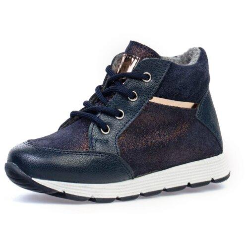 Фото - Ботинки КОТОФЕЙ размер 25, синий ботинки для мальчика котофей цвет синий салатовый 554047 41 размер 30