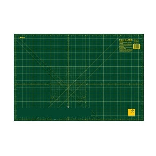 Купить Мат раскройный двусторонний, толщина 1, 6 мм, зеленый, 92 х 61 см/36 х 24 Olfa RM-IC-M, Инструменты и аксессуары