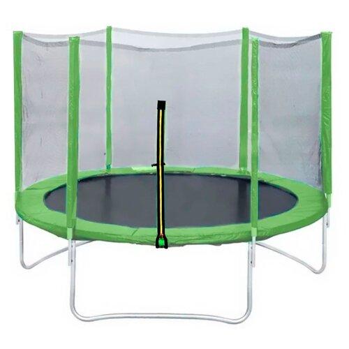 Каркасный батут DFC Trampoline Fitness 10FT-TR-LG/10FT-TR-B с сеткой 305х305х262 см зеленый каркасный батут dfc trampoline fitness 16ft tr lg 16ft tr b 488х488х269 см светло зеленый