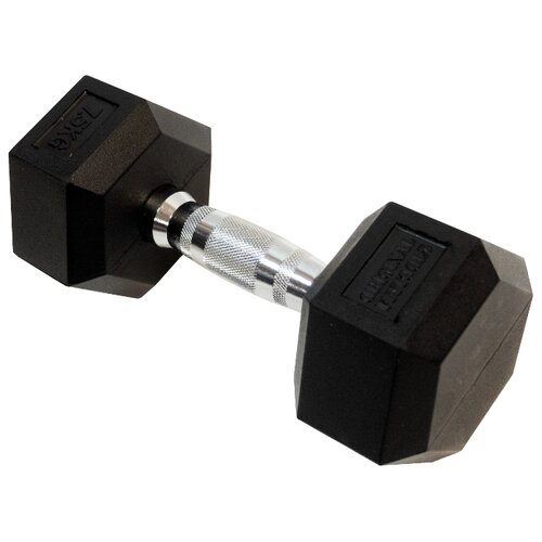 Гантель неразборная Original FitTools FT-HEX-07-5 7.5 кг хром/черный