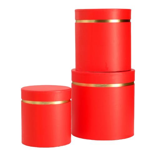 Набор подарочных коробок ESSA TOYS Тубус, 3 шт красный