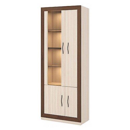 Шкаф для гостиной Мэрдэс Нобиле ШВтВ-ФСД-ФГК (L), (ШхГхВ): 85х38х216 см, карамель/шамони