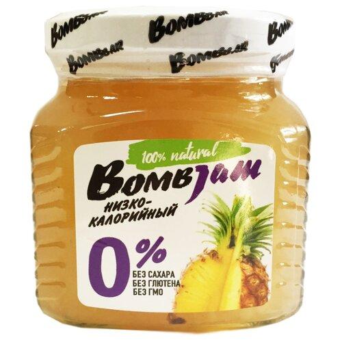 Джем низкокалорийный BombBar Ананас без сахара, банка 250 г