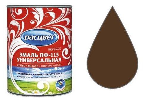 Эмаль расцвет шоколадная 0,5кг