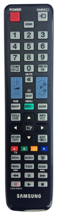 Пульт ДУ Samsung AA59-00507A для Samsung UE32D6100SW/UE37D6100SW/UE40D6100SW