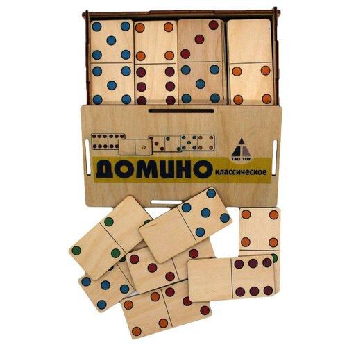 Фото - Домино TAU TOY классическое (6201081) деревянные игрушки tau toy головоломка никитина собери квадрат 7 28х28 см
