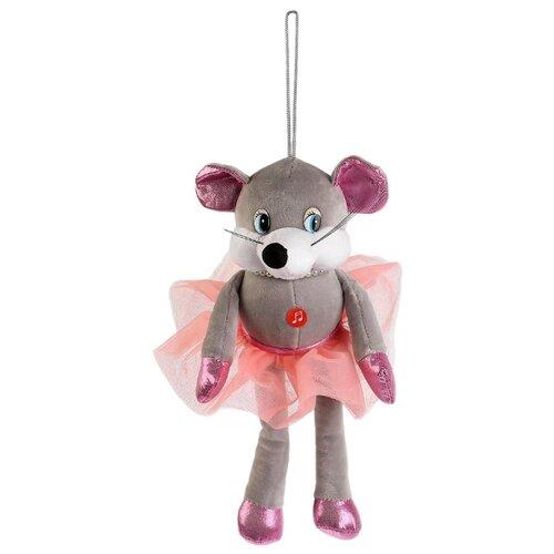 Купить Мягкая игрушка Мульти-Пульти Мышка с бусами 17 см, муз. чип, Мягкие игрушки