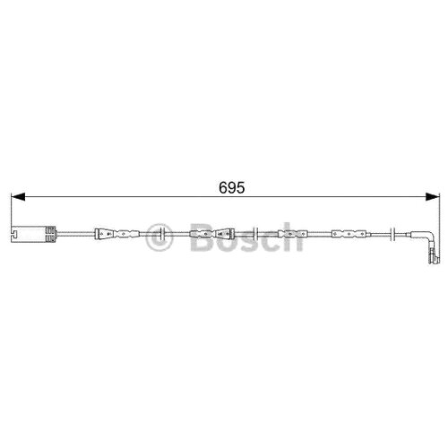 Датчик износа тормозных колодок передний Bosch 1987473050 для BMW 1 series, BMW 2 series, BMW 3 series, BMW 4 series