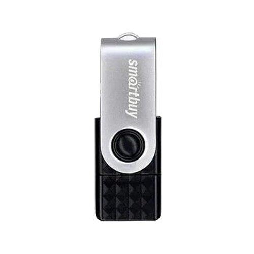 Фото - Флешка SmartBuy Trio 128 GB, серебристо-черный флешка smartbuy art 64 gb черный