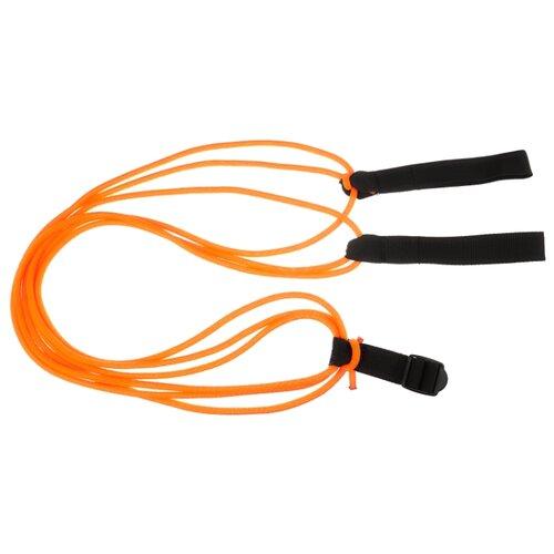 Эспандер для лыжника (боксера, пловца) Indigo 3 шнура (00021321) 200 см оранжевый/черный эспандер для лыжника боксера пловца starfit es 901 6 кг 220 см синий черный