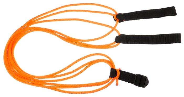 Эспандер для лыжника (боксера, пловца) Indigo 3 шнура (00021321) 200 см оранжевый/черный