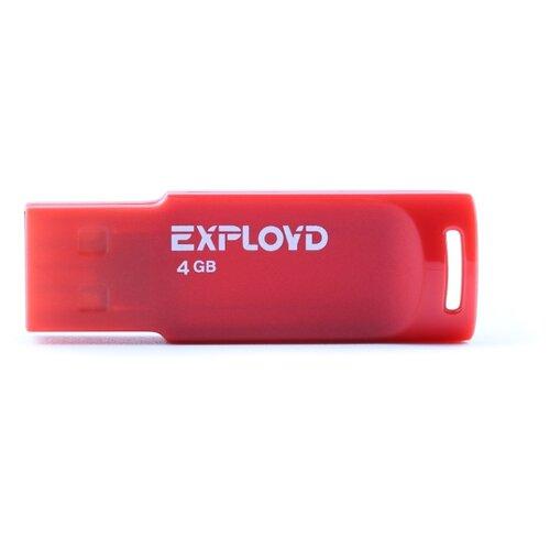 Фото - Флешка EXPLOYD 560 4GB red флешка exployd 560 16gb red