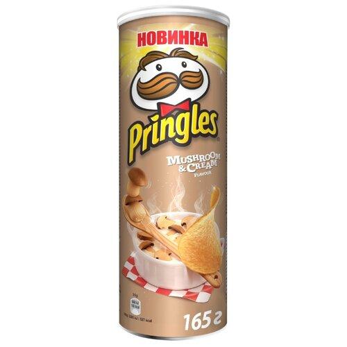 Чипсы Pringles картофельные Mushroom & Cream, 165 г чипсы pringles картофельные crab 70 г