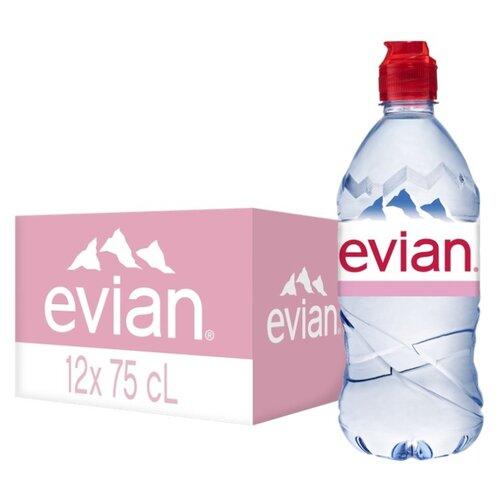 Вода минеральная Evian негазированная, спорт ПЭТ, 12 шт. по 0.75 лВода<br>