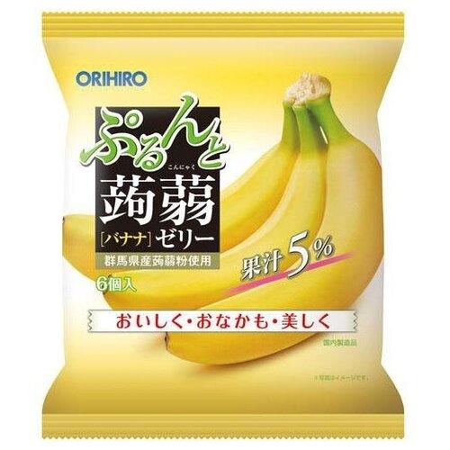 Желе Orihiro из конняку Банан 0%, 6 шт.