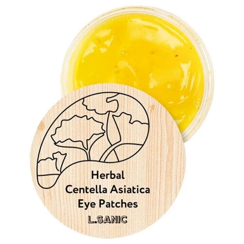 L'Sanic Гидрогелевые патчи для кожи вокруг глаз Herbal Centella Asiatica Eye Patches, 60 шт. l sanic патчи herbal centella asiatica hydrogel eye patches гидрогелевые с экстрактом центеллы 60 шт
