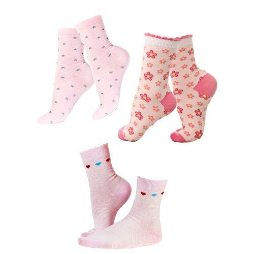 белье acoola носки детские 3 пары цвет ассорти размер 18 20 32214420032 Носки IDILIO комплект 3 пары размер 18-20 см, розовый ассорти