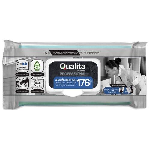 Салфетка влажная с пропиткой Qualita Professional 176 шт