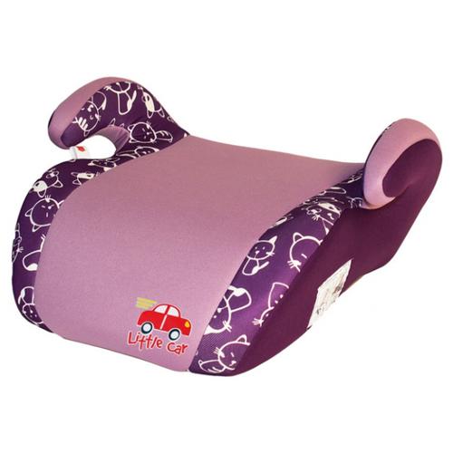 Бустер группа 2/3 (15-36 кг) Little Car Smart, фиолетовый/коты автокресло группа 1 2 3 9 36 кг little car ally с перфорацией черный