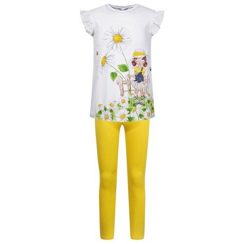 Купить Комплект одежды Mayoral размер 98, белый/желтый, Комплекты и форма