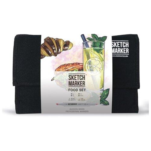 Купить SketchMarker Набор маркеров Food Set, 24 шт, Фломастеры и маркеры
